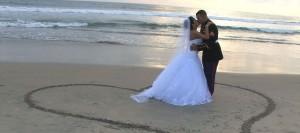 Satisfied wedding video customers